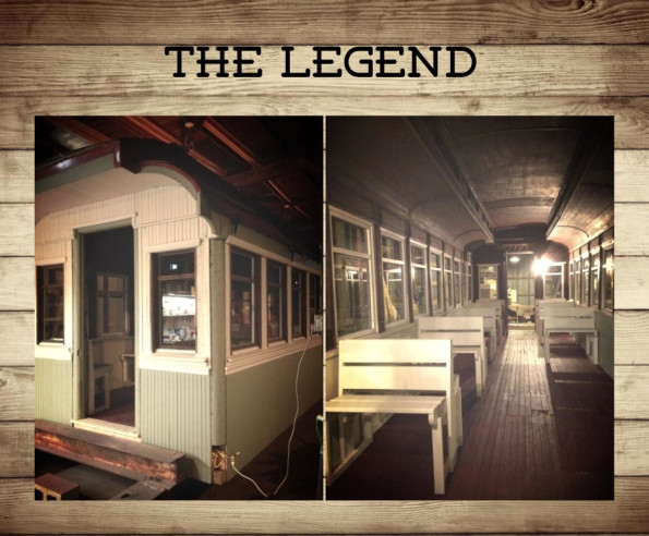 The Legend is home! Although it's shelter is not yet complete, the train car will soon be available for viewing!