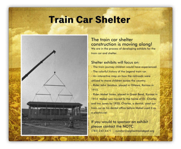 The newest and largest exhibit to date at the National Orphan Train Complex will be a special feature at the 2016 Celebration.